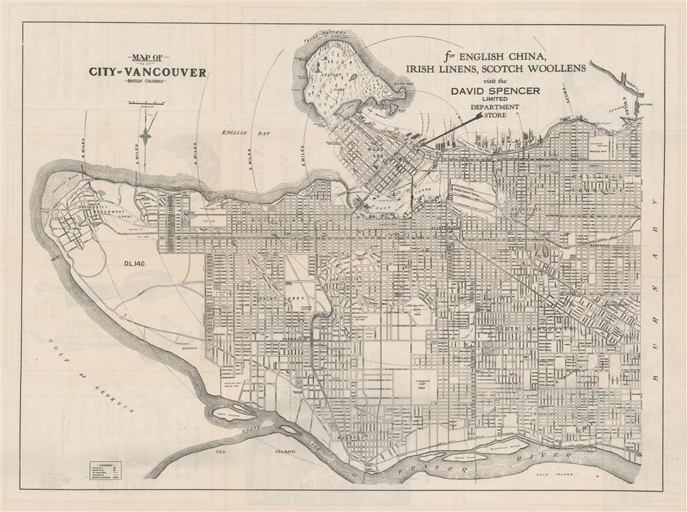 Map of City of Vancouver British Columbia. - Main View