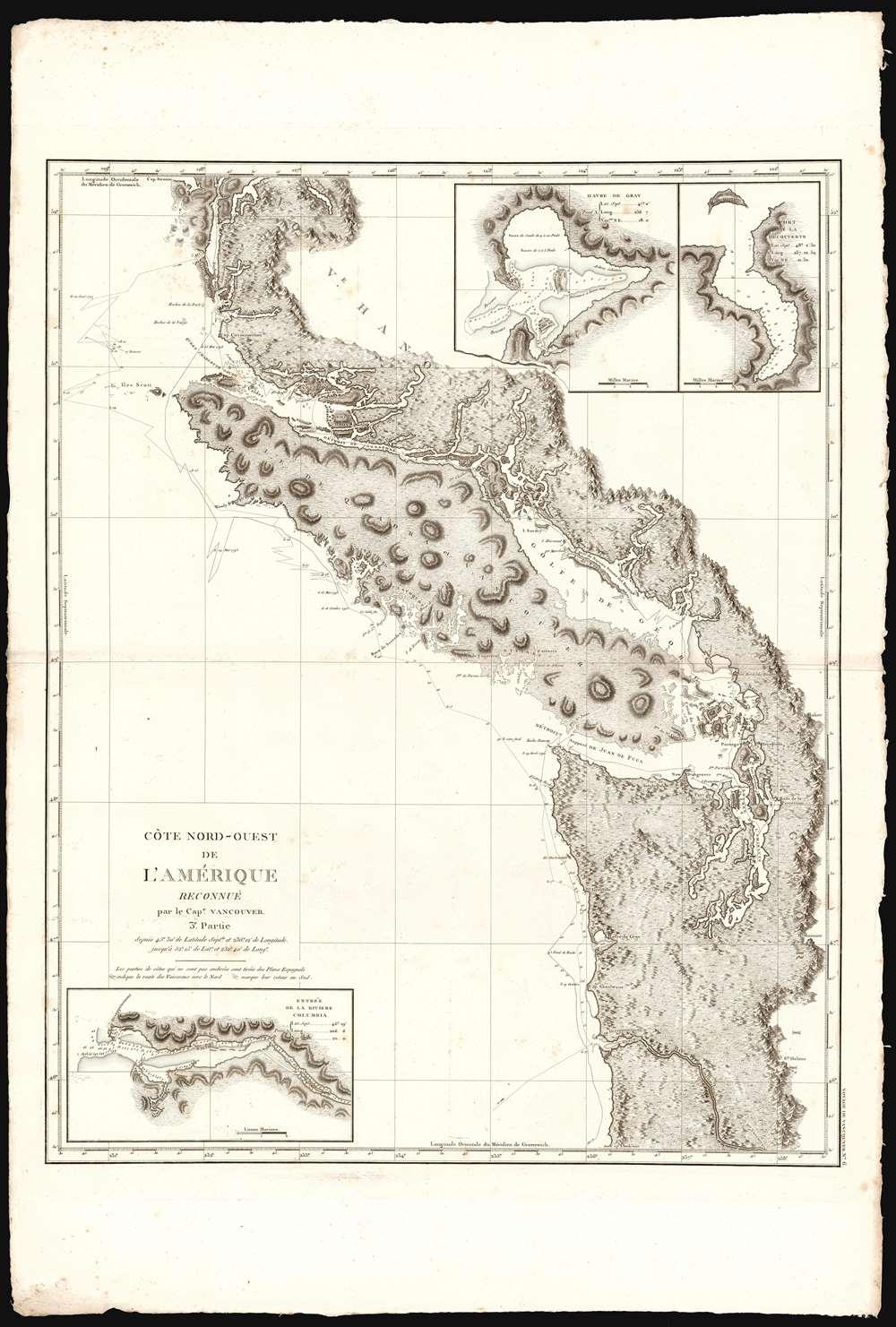 Cote Nord-Ouest de L'Amerique Reconnue par le Cape. Vanouver. 3e. Partie. - Alternate View 1