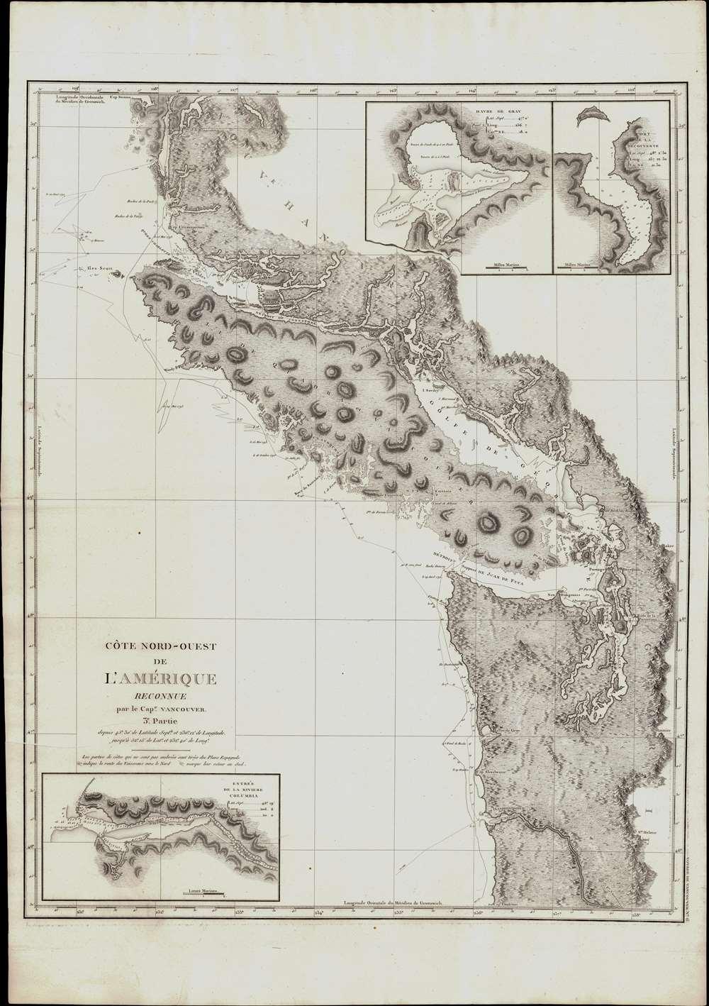 Cote Nord-Ouest de L'Amerique Reconnue par le Cape. Vanouver. 3e. Partie. - Main View
