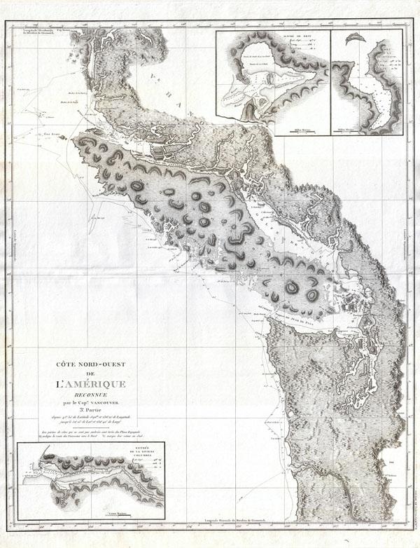 Cote Nord-Ouest de L'Amerique Reconnue par le Cape. Vanouver. 3e. Partie.