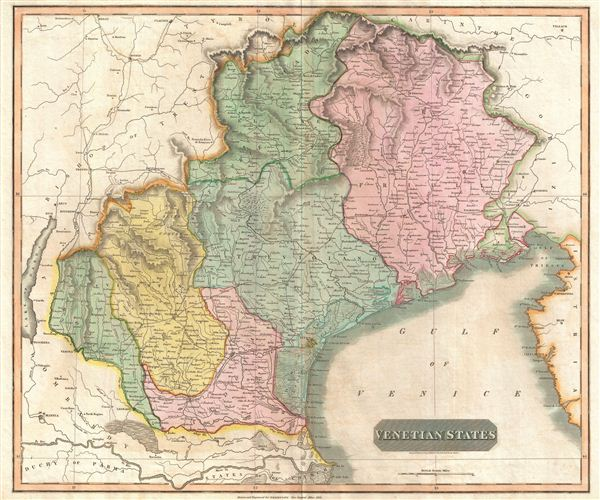 Map Of North East Italy.Venetian States Geographicus Rare Antique Maps