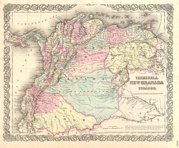 Venezuela, New Granada and Ecuador.