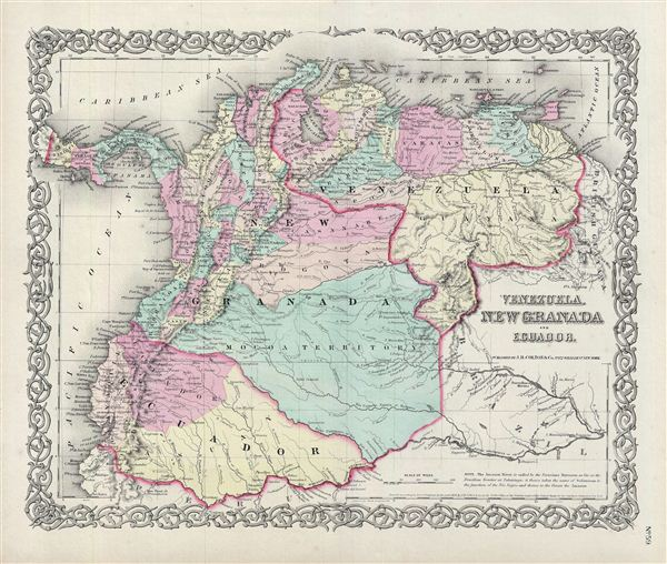 Venezuela, New Granada and Ecuador. - Main View