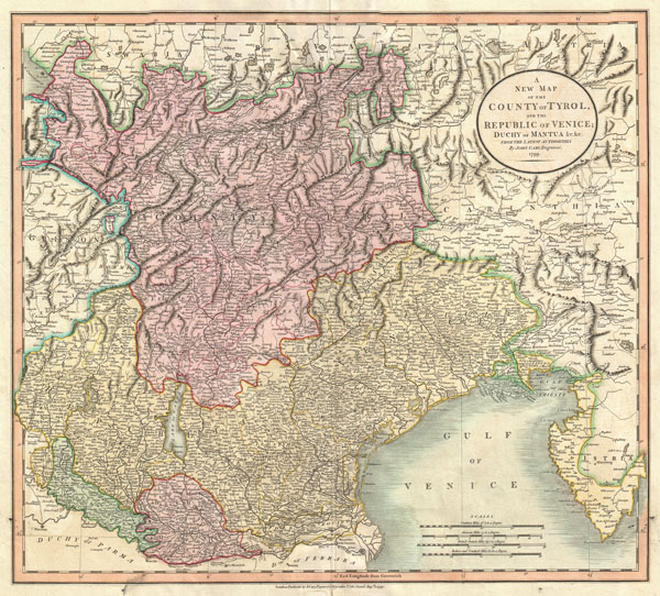 A New Map of the County of Tyrol, and the Republic of Venice; Duchy of Mantua &c. &c. from the Latest Authorities. - Main View