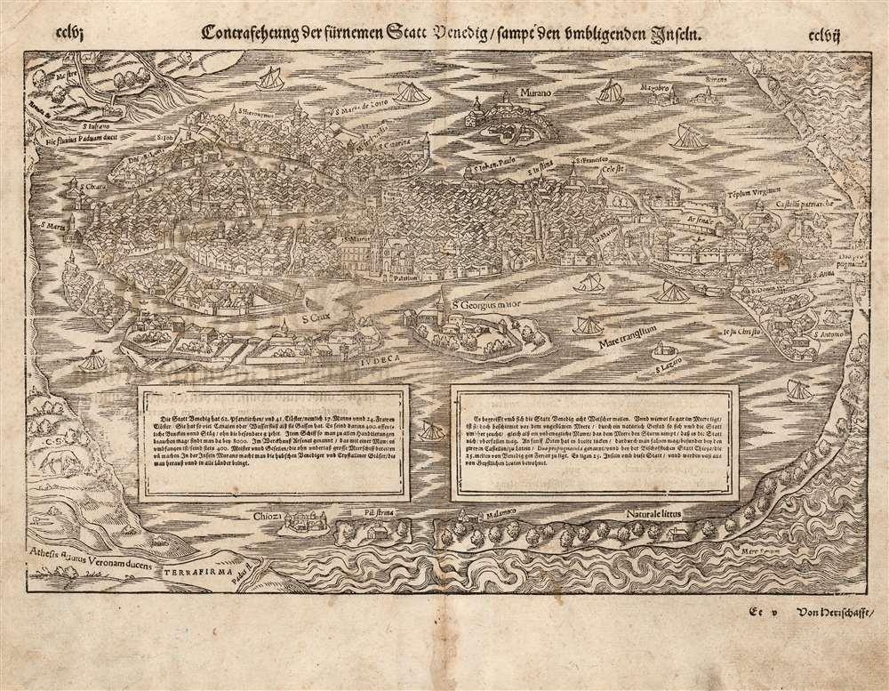 Contrafehtung der fürnemmen Statt Venedig sampt den umbligenden Inseln. - Main View