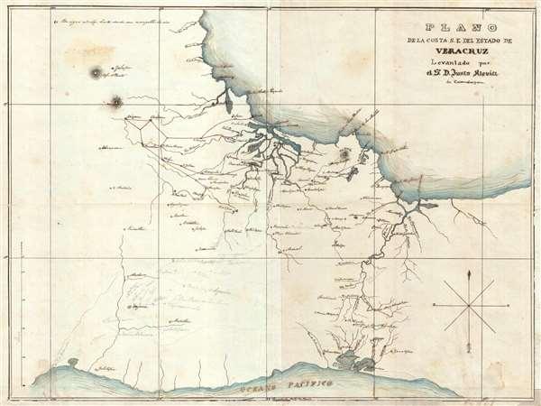 Plano de la Costa S.E. del Estado de Veracruz. - Main View