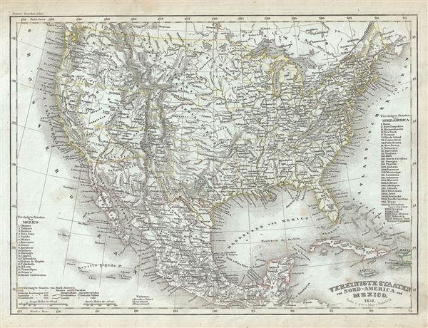 Vereinigte Staaten von Nord-America und Mexico.