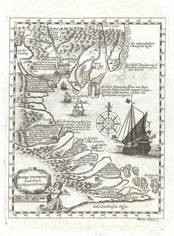 Daniel Taverniers Land-Charte des Königreichs Tunqvin.