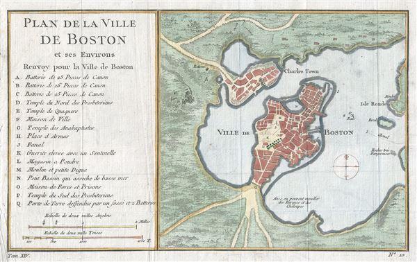 Plan de la Ville de Boston et ses Environs.
