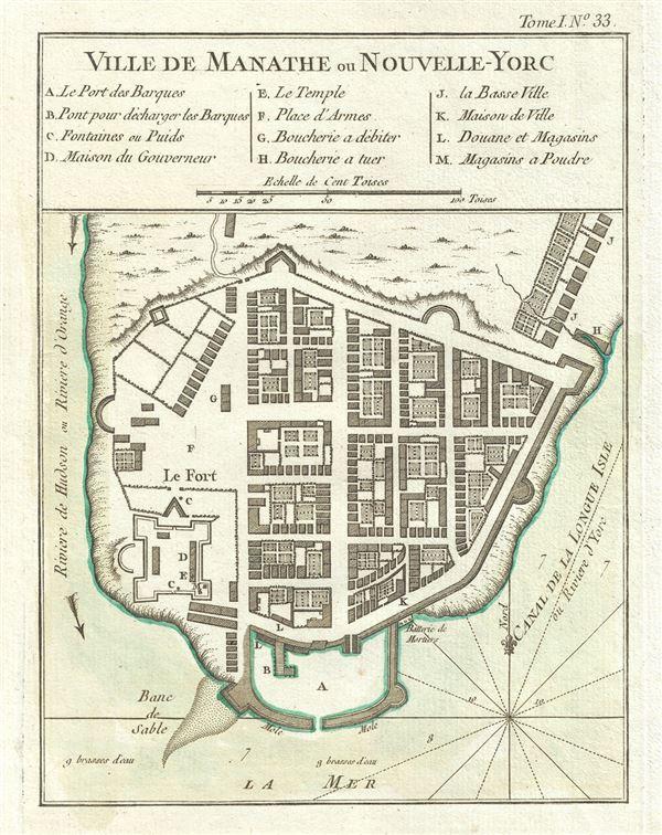 Ville De Manathe ou Nouvelle-Yorc. - Main View