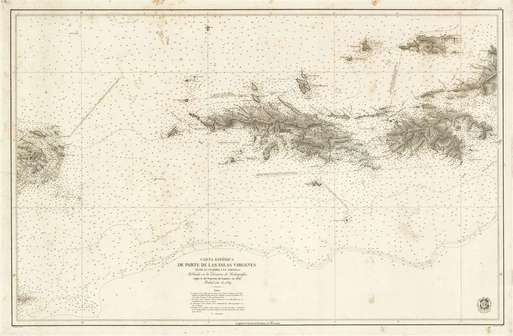 Carta Esférica de Parte de Las Islas Virgenes desde la Culebra a La Tortola. - Main View