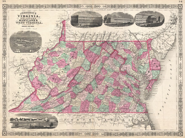 Johnson's Virginia, Delaware, Maryland and West Virginia. - Main View