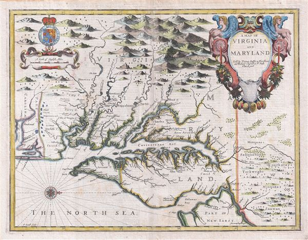 A Map Of Virginia And Maryland Geographicus Rare Antique Maps