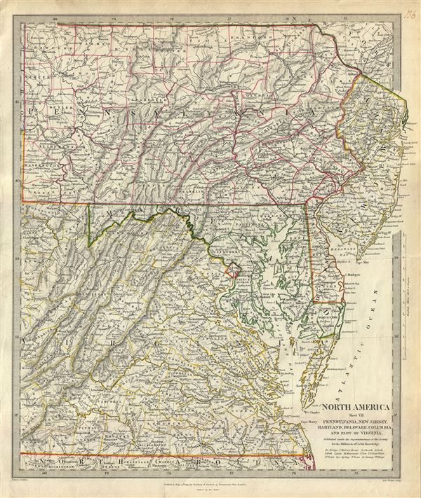 North America Sheet VII Pennsylvania, New Jersey, Maryland, Delaware, Columbia and Part of Virginia. - Main View
