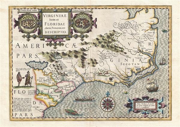 Virginiae Item et Floridae Americae Provinciarum, nova Descriptio.