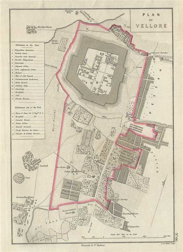 Plan of Vellore : Geographicus Rare Antique Maps