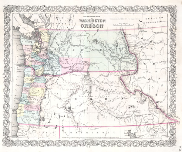 The Territories of Washington and Oregon. - Main View