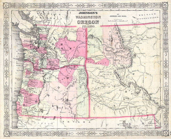Johnson's Washington, Oregon and Idaho