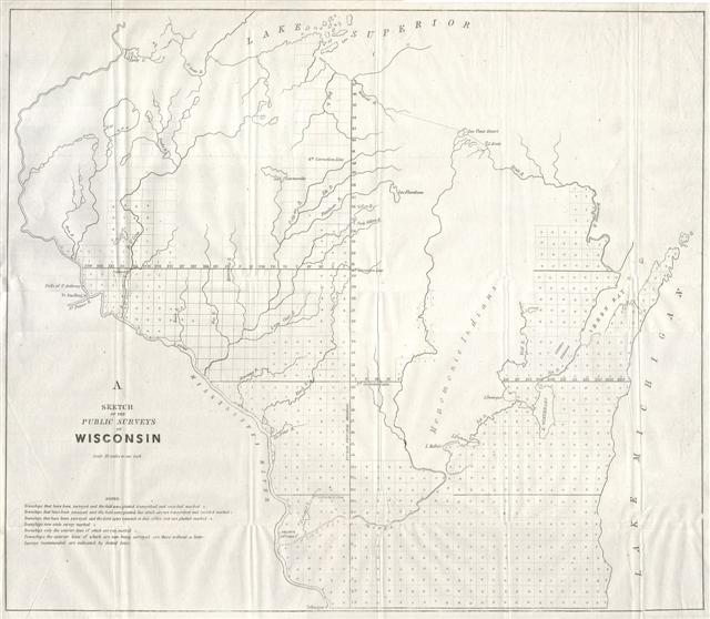A Sketch of the Public Surveys in Wisconsin. - Main View
