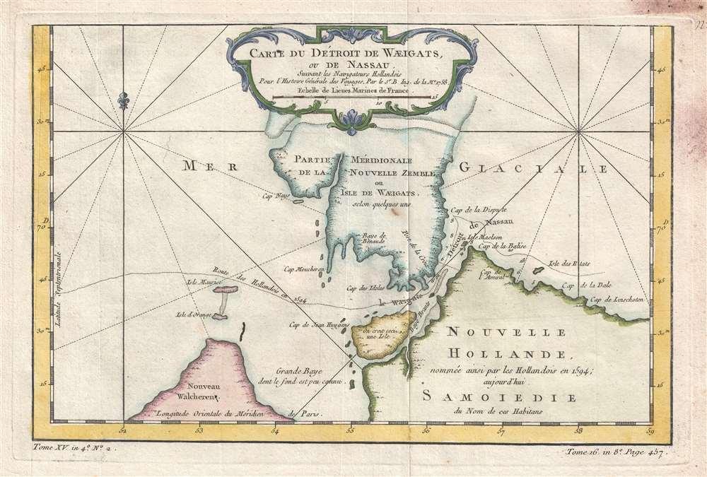 Carte du Detroit de Waeigats, ou de Nassau.: Geographicus ...