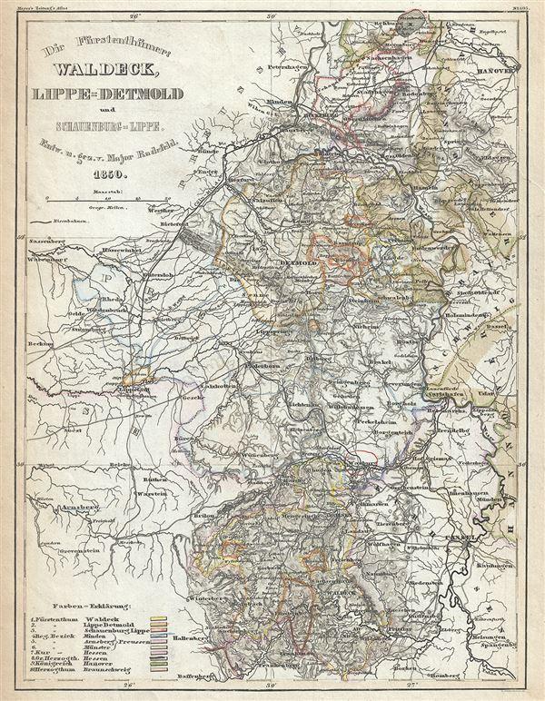 Die Furstentumer: Waldeck, Lippe-Detmold und Schauenburg-Lippe.