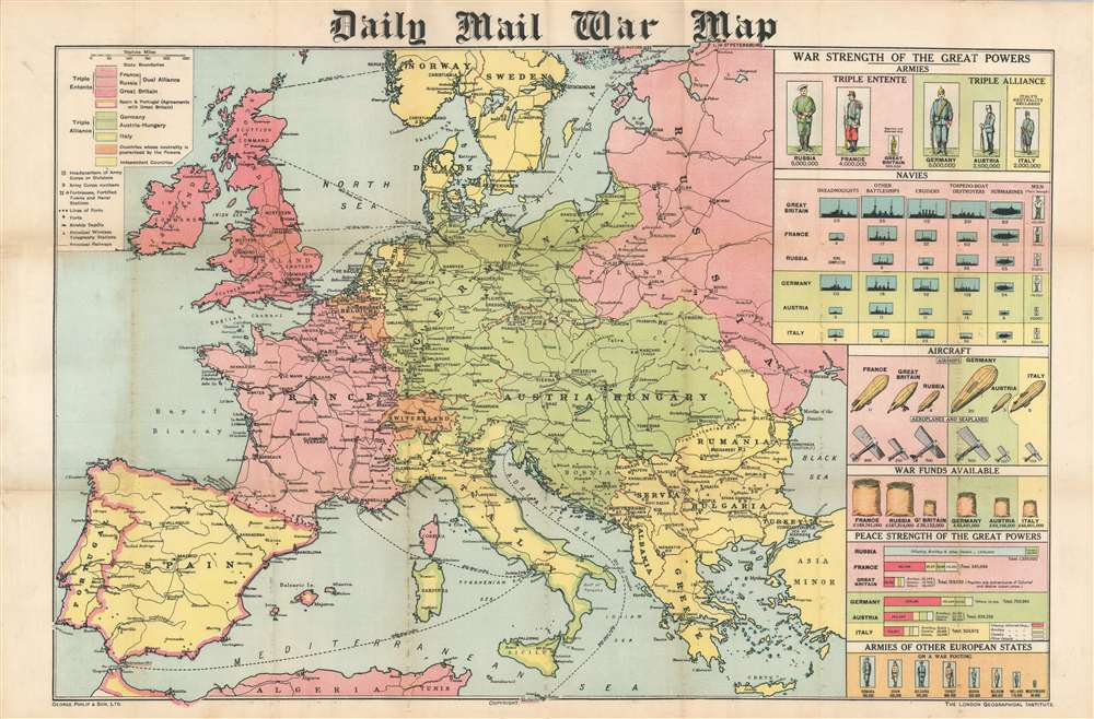 Daily Mail War Map. - Main View