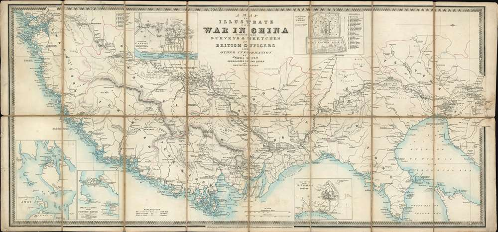 1842 Wyld Map of the China Coast during the First Opium War