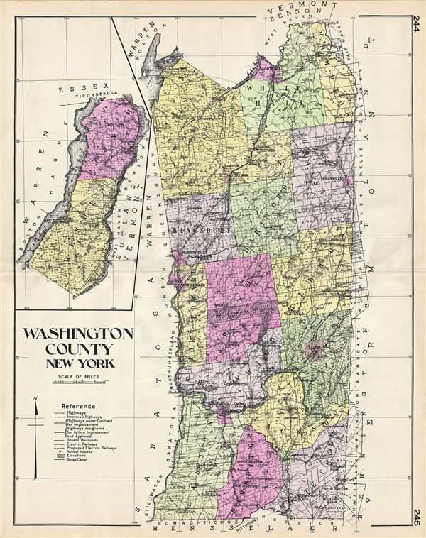 Washington County New York Geographicus Rare Antique Maps