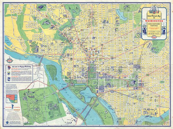 Esso Pictorial Map of Washington Our Nation's Capital.