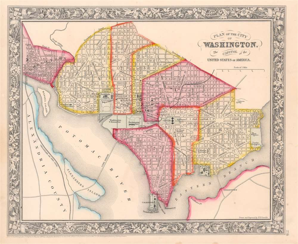 Plan of the City of Washington. The Capitol of the United States of America. - Main View