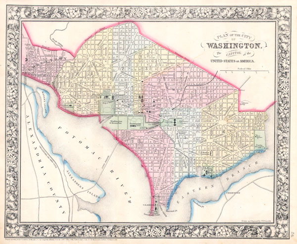 Plan of the City of Washington The Capitol of the United States of America.