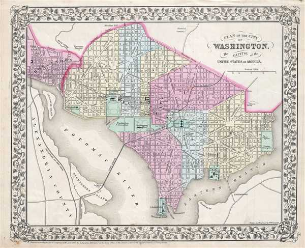 Plan of the City of Washington, The Capitol of the United States of America.