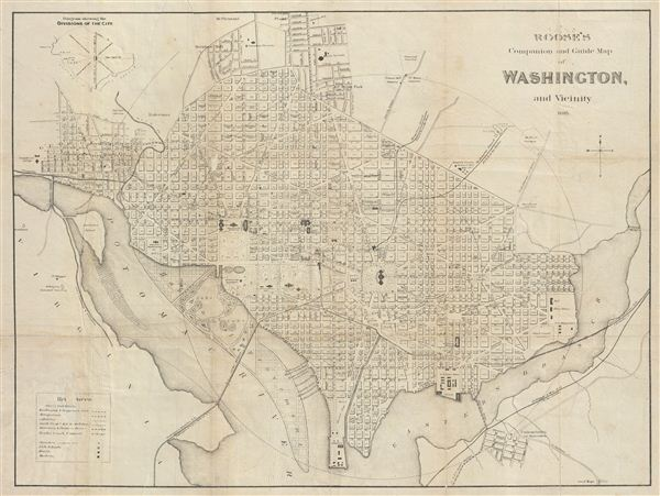 Roose's Companion and Guide Map of Washington, and Vicinity.