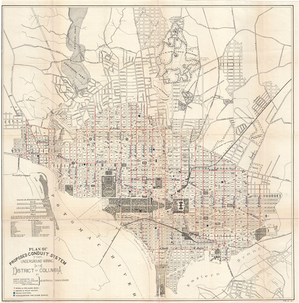 Plan of Proposed Conduit System for Underground Wiring in the District of Columbia.