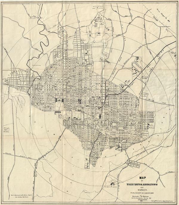 Map of Washington, Georgetown and Vicinity.