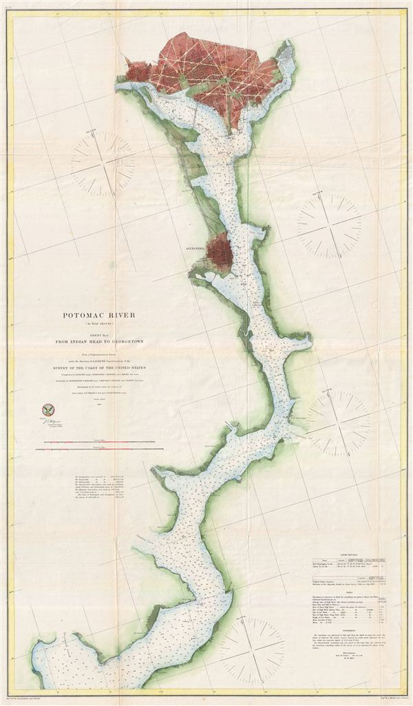 Potomac River (in four sheets) Sheet No. 4.: Geographicus ...Potomac River Map With States