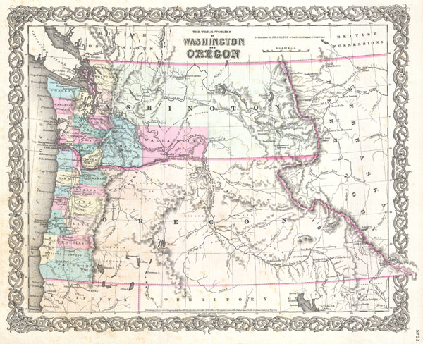 The Territories  of Washington and Oregon.