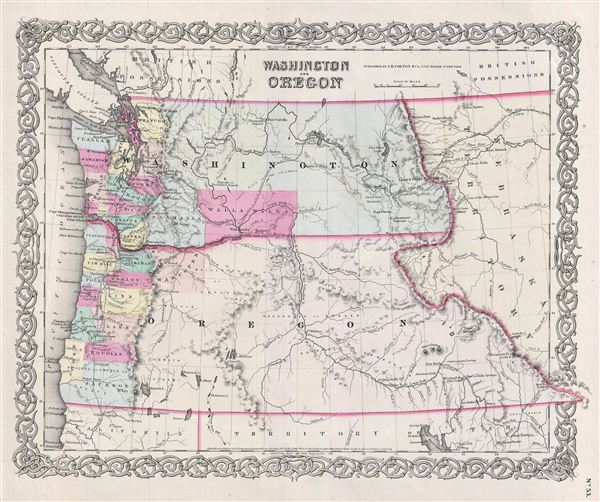 Washington And Oregon. - Main View