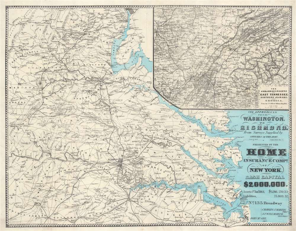 The Approaches from Washington, to Richmond. - Main View