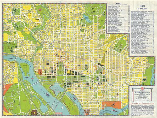 Visitors Map of Washington DC Geographicus Rare Antique Maps – Washington Dc Tourist Map Printable