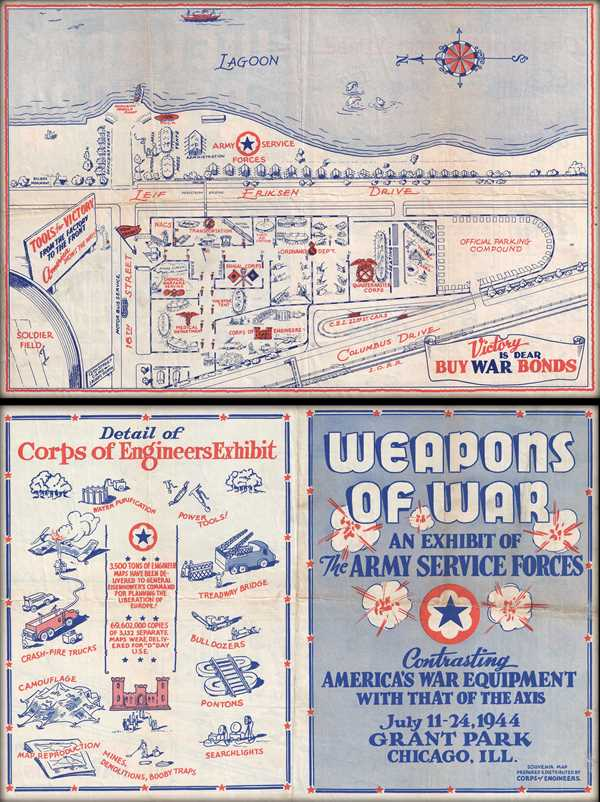 Weapons of War An Exhibit of the Army Service Forces Contrasting America's War Equipment with that of the Axis.