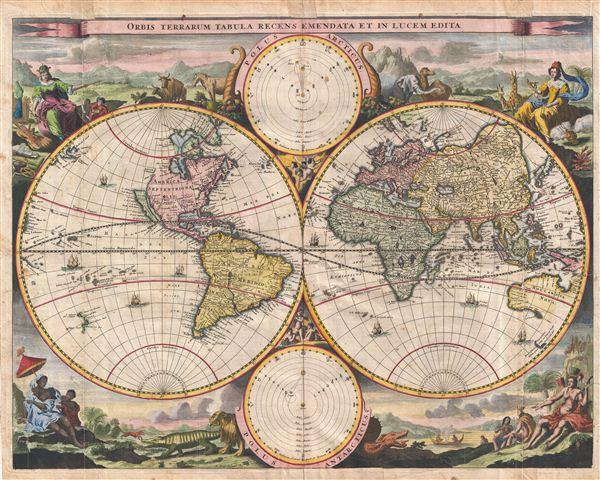 Orbis Terrarum Tabula Recens Emendata et in Lucem Edita.