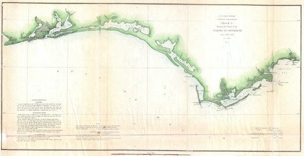 Sketch G Showing the Progress of the Survey in Section VII from 1849 to 1852.