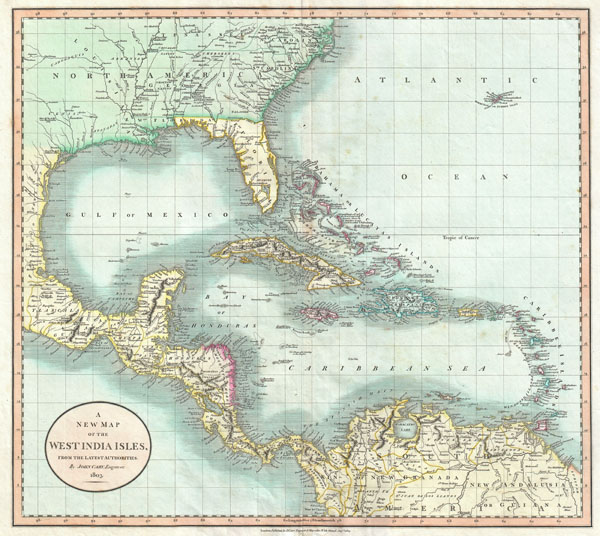 A New Map of the West India Isles.: Geographicus Rare ...