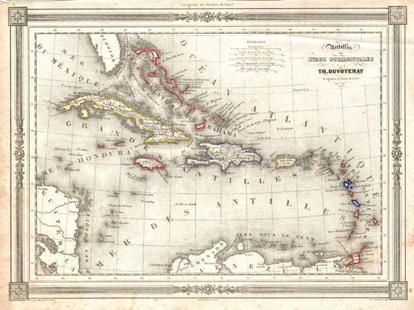 Antilles ou Indes Occidentales par Th. Doutovenay.