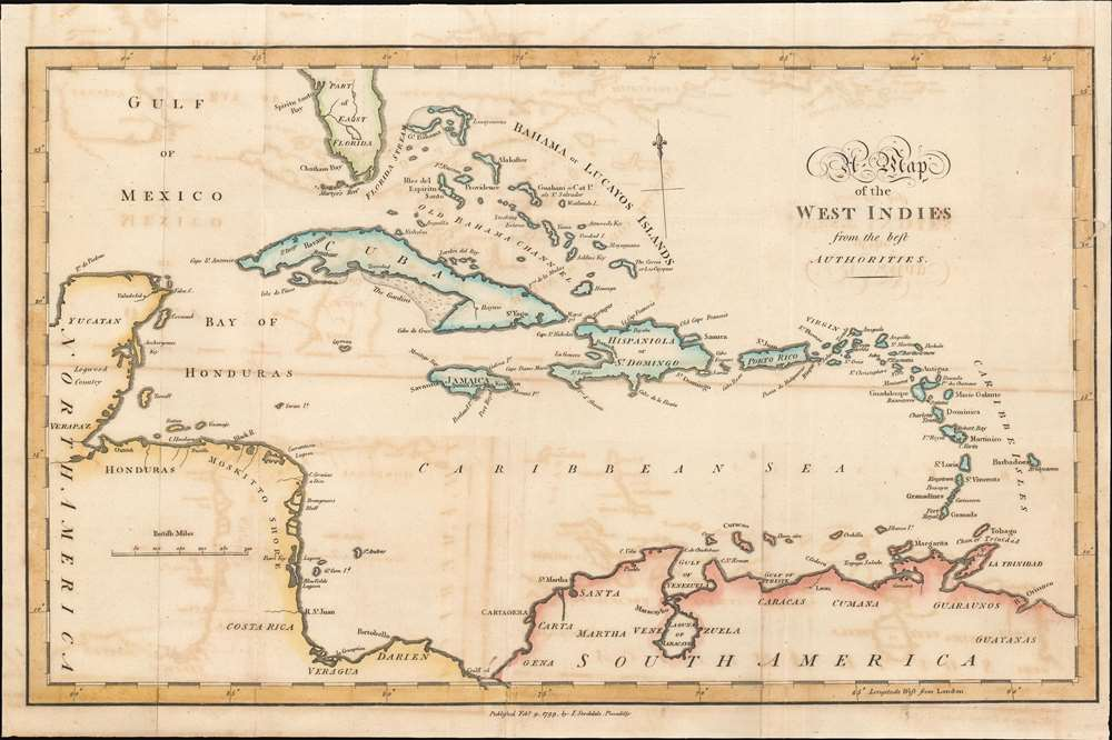 A Map of the West Indies. - Main View