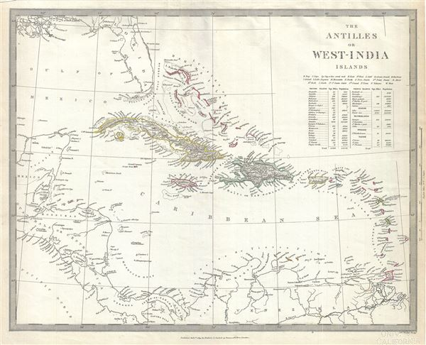 The Antilles or West India Islands. - Main View
