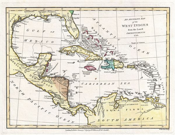 An Accurate Map of the West Indies from the Latest Improvements. - Main View