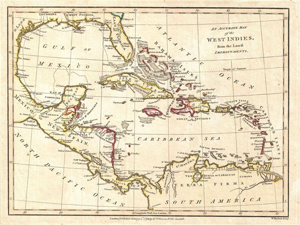 An Accurate Map of the West Indies, from the Latest Improvements.