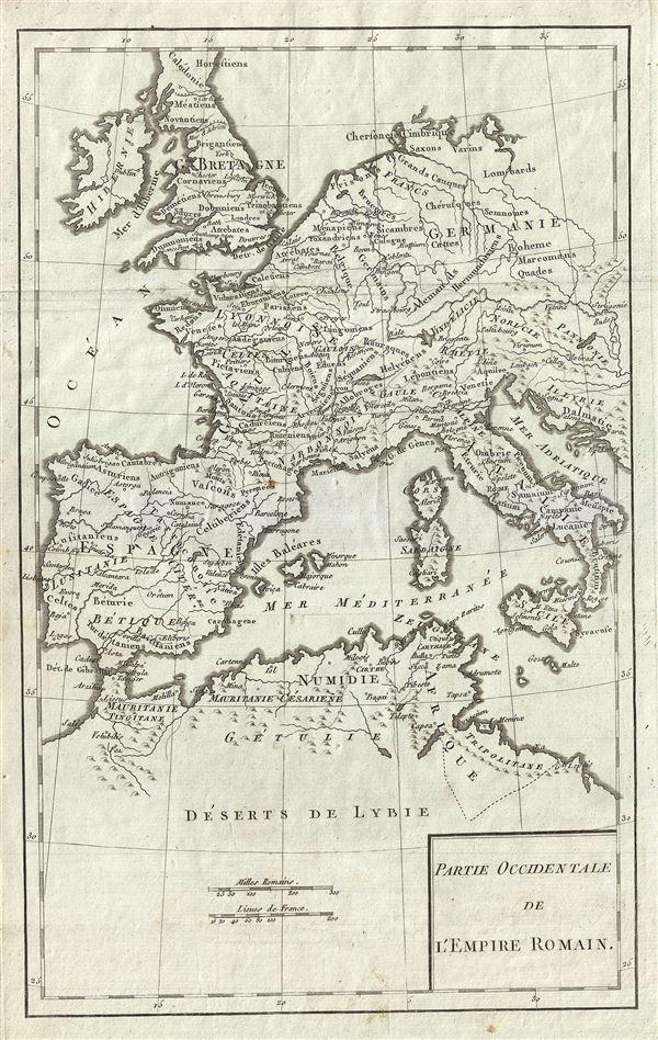 Partie Occidentale de l'Empire Romain. - Main View